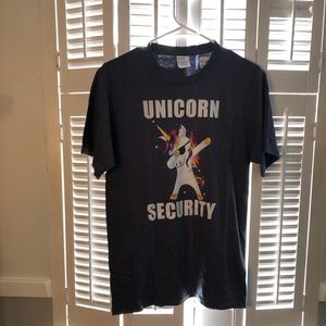Adult Small Unicorn Security shirt